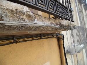 Foto forjado balcón degradado y adorno barandillas